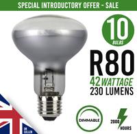 10x Dimmable Downlighter Halogen Spot Lamp Light Bulb R80 E27 / ES 42w=60watt