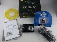 NIKON COOLPIX L11 Digital Camera in Original Box, BLACK, with 2GB SD Memory Card
