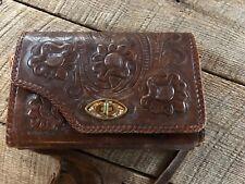 Vintage Gaitan Tooled Leather Reversable Shoulder Purse