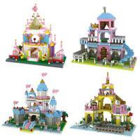 Girl Princess Castle Building Block Children Kids DIY Assembled Puzzle Toys P4PM