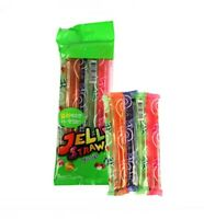 KIDSWELL JELLY STRAWS Assorted 5pcs Set, 4Flavor Natural Fruit