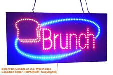 Brunch Sign, TOPKING Signage, LED Neon Open, Store, Window, Shop, Business,Lunch