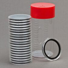 1 Capsule Tube & 20 32mm Black Rings Coin Holders for 1oz Gold Eagles
