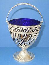 C18th Geo.III silver Sugar Basket or Cream Pail.  Wm. Plummer London 1779.