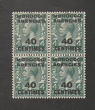 Morocco Agencies #406 (SG #196) VF MNH - 1917 40c on 4p King George V