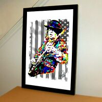 Stevie Ray Vaughan SRV Rock Blues Guitar Music Poster Print Wall Art 11x17