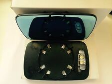 BMW 3/5-Series E46 E39 Mirror Glass Heated Left Side With Plate Blue Tinted