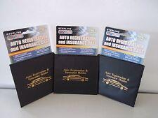 3 Auto Car Truck Registration And Insurance Case Document Holder Wallet Folder