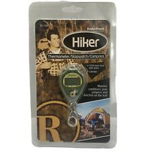 Vintage Radio Shack Hiker Thermometer/Stopwatch/Compass/Alarm Keychain Clip NEW