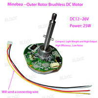 High Torque DC12V 24V Outer Rotor Brushless Motor Built-in Driver PWM Control FY