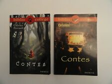 Lot de 2 livres Biblio Collège - Contes de Grimm et de Perrault