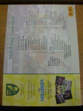 27/07/2002 Colour Teamsheet: Norwich City v Ajax [Friendly]. Any faults with thi