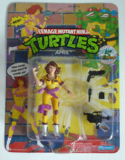 1992 Teenage Mutant Ninja Turtles figure April (5th Anniversary version) - MISB