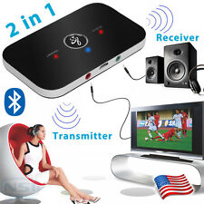 2 In 1 Wireless Bluetooth Transmitter + Receiver A2DP Stereo Audio Music Adapter