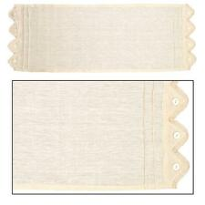 """LACE 'N' BUTTONS Cotton Table Runner 13"""" x 36"""" Cream"""