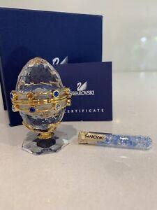 Swarovski Secrets Egg With Garland Gold 253442 NIB