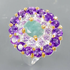 Wholesale jewelry Emerald Ring Silver 925 Sterling  Size 6.75 /R169800