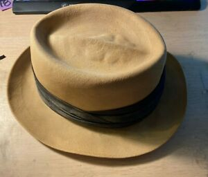 Vintage Cavanagh Fedora Hat with Leather Inside