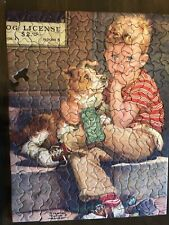 Tuco Deluxe Picture Puzzle Vintage Double Trouble Boy W/Dog Missing 1 Piece