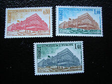 FRANCE - timbre yvert et tellier service n° 53 a 55 n** (A9) stamp french (A)
