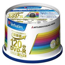 50 Verbatim Blank DVD Discs 4.7GB 16x DVD-R 120min VHR12JP50V4