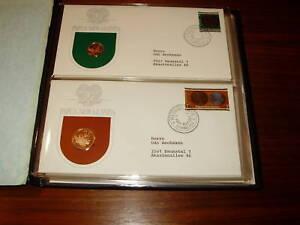 8 Ersttagsbriefe zur Unabhängigkeit Papua New Guinea 1975 - Form Numisbriefe -
