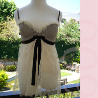 R.E.D. VALENTINO Bow & Lace Corset Camisole/Top!I42