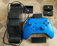Microsoft Xbox One Wireless Controller - Blue, Great, w/ PC Adapter & Dual Dock!