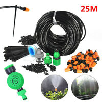 Micro Drip Water Irrigation System Plant Garden Self Watering Hose Sprayer Kit