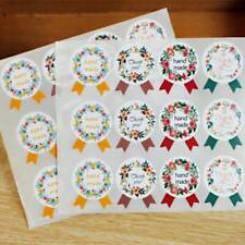 120pcs Flower Medal Hand Made andThank You Garland Seal Adhesive Sticker Label