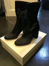 BRAND NEW BUTTER ITALY SHOES ACE BLACK SATIN BOOTIE BOOTS SZ 9 $480 FRYE
