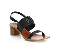 a6cca9c2530a Tory Burch Black Lowell 2 Perforated Leather Sandal Size 7.5M UK 5