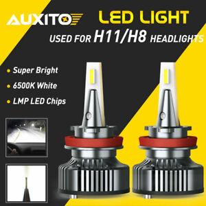 AUXITO 16000LM LED H8 H9 H11 Headlight Kit Low Beam Mini Bulb Super White 6500K