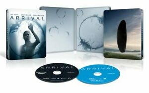 ARRIVAL (U.S. EXCLUSIVE STEELBOOK 4K Ultra HD +Blu-ray +Digital) NEW