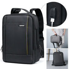 3 in 1 Laptop Backpack for 15.6 inch Notebook Messenger Handbag USB School Bag