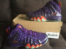 Nike Barkley Posite Max Foamposite Court Purple Orange 9.5 Basketball