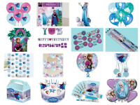 Disney Frozen Childrens Birthday Party Decorations - Plates Cups Napkins Banner