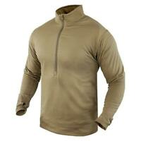 USGI Sekri PCU Level 1 Long Sleeve 1/2 Zip  Shirt Small / Regular Coyote New