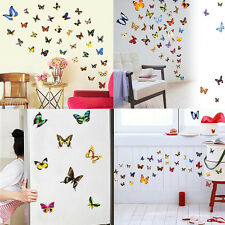 80 Pcs Colorful Butterfly Wall Stickes Art Decals Home Room DIY Decoration Decor