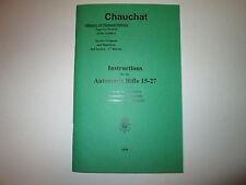 Chauchat 15-27 Automatic Rifle- English translation