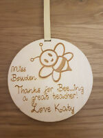 PERSONALISED PLAQUE SCHOOL GIFT FOR TEACHER GIFTS NURSERY END OF YEAR TERM