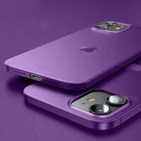 Para iPhone 12 Pro Max 11 Pro Max XR XS X 8 7 Funda ultrafina mate suave de PP