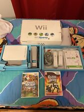Nintendo Wii White Console With Guitar Hero And Wii Fit. All Original Packaging