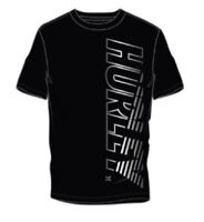 Hurley Extreme Collection CVC Jersey Graphic Vertical Logo Black Tee Men's XL