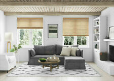 PVC EASY FIT WOOD EFFECT NATURAL HOME OFFICE WINDOW VENETIAN BLINDS