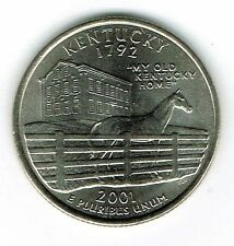 2001-P Brilliant Uncirculated Kentucky 15TH State Quarter Coin!