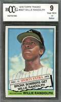 Willie Randolph Rookie Card 1976 Topps Traded #592T New York Yankees BGS BCCG 9