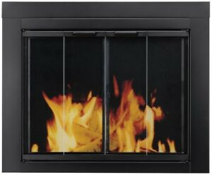 Glass Masonry Fireplace Fire Place Doors Cover Panels Pleasant Hearth AT-1001