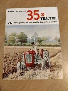 MASSEY - FERGUSON 35 X TRACTORS ORIGINAL SUPERB COLOUR FARMING BROCHURE IN VGC