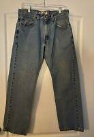 Levi's 505 Men's Regular Fit Light Wash Straight Legs Jeans Size 30 X 29